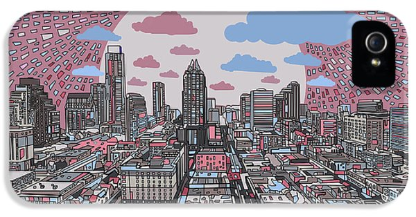 Austin Texas Abstract Panorama 3 IPhone 5s Case by Bekim Art