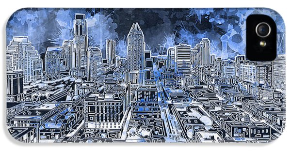 Austin Texas Abstract Panorama 5 IPhone 5s Case by Bekim Art