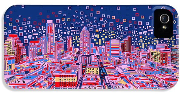 Austin Texas Abstract Panorama IPhone 5s Case by Bekim Art
