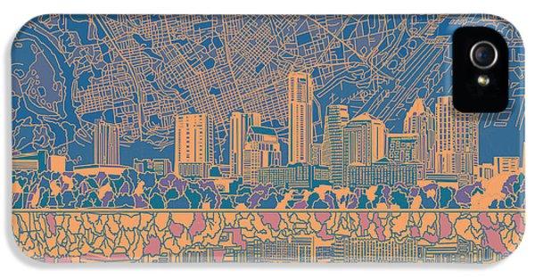 Austin Texas Skyline 2 IPhone 5s Case by Bekim Art