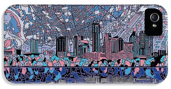 Austin Texas Skyline 3 IPhone 5s Case by Bekim Art
