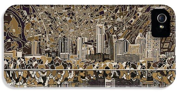 Austin Texas Skyline 5 IPhone 5s Case by Bekim Art