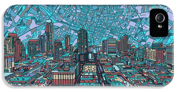 Austin Texas Vintage Panorama 4 IPhone 5s Case by Bekim Art