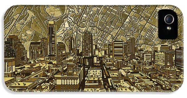 Austin Texas Vintage Panorama IPhone 5s Case by Bekim Art
