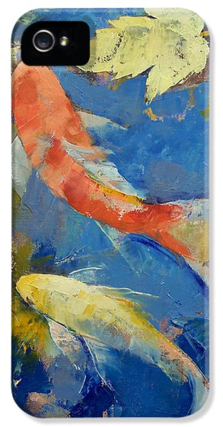 Autumn Koi Garden IPhone 5s Case by Michael Creese