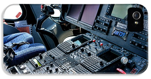 Helicopter iPhone 5s Case - Aw139 Cockpit by Olivier Le Queinec