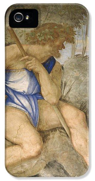 Baldassare Peruzzi 1481-1536. Italian Architect And Painter. Villa Farnesina. Polyphemus. Rome IPhone 5s Case by Baldassarre Peruzzi