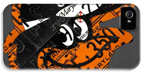 Oriole iPhone 5s Case - Baltimore Orioles Vintage Baseball Logo License Plate Art by Design Turnpike