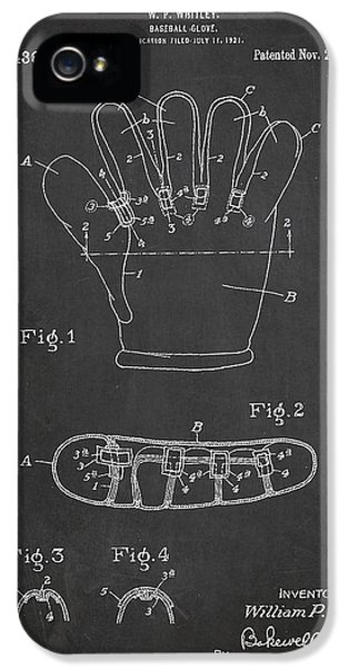 Softball iPhone 5s Case - Baseball Glove Patent Drawing From 1922 by Aged Pixel