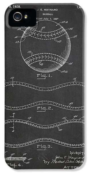 Softball iPhone 5s Case - Baseball Patent Drawing From 1927 by Aged Pixel