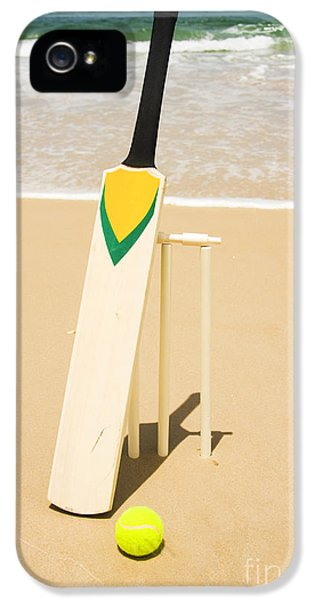 Bat Ball And Stumps IPhone 5s Case by Jorgo Photography - Wall Art Gallery