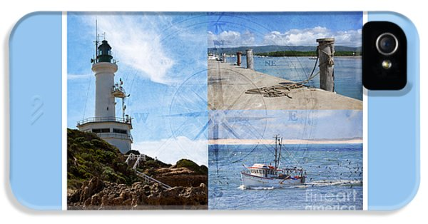 Beach Triptych 2 IPhone 5s Case by Linda Lees