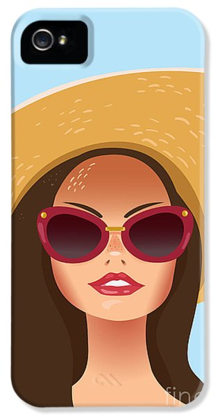1950s iPhone 5s Case - Beautiful Young Woman With Sunglasses by Salvadorova
