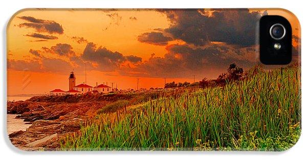 Ocean Sunset iPhone 5s Case - Beavertail Spectacular- Beavertail State Park Rhode Island by Lourry Legarde