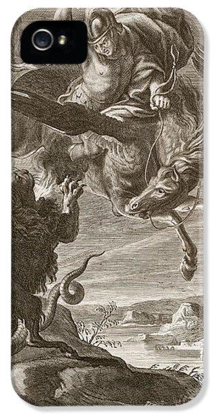 Pegasus iPhone 5s Case - Bellerophon Fights The Chimaera, 1731 by Bernard Picart