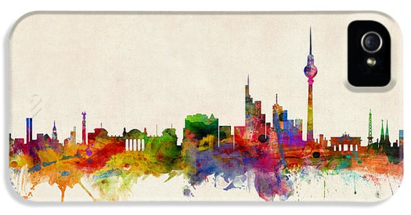 Berlin City Skyline IPhone 5s Case by Michael Tompsett