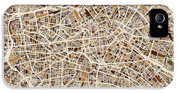 Berlin Germany Street Map IPhone 5s Case by Michael Tompsett
