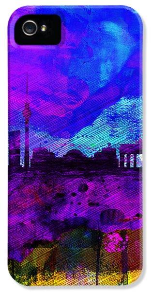 Berlin Watercolor Skyline IPhone 5s Case by Naxart Studio