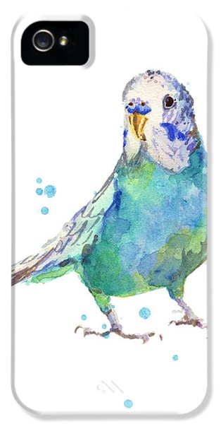 Parakeet iPhone 5s Case - Bertie Wonderblue The Budgie by Alison Fennell