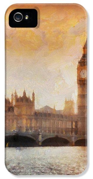 Big Ben At Dusk IPhone 5s Case by Pixel Chimp