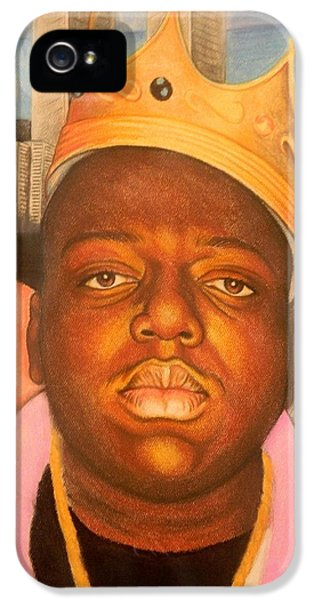 Biggie iPhone 5s Case - Big Dream Little Time by David Isaiah Rogers