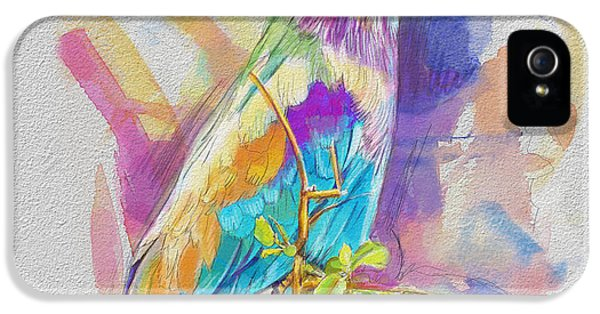 Parakeet iPhone 5s Case - Bird On A Twig by Catf
