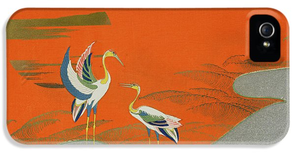 Birds At Sunset On The Lake IPhone 5s Case by Kamisaka Sekka