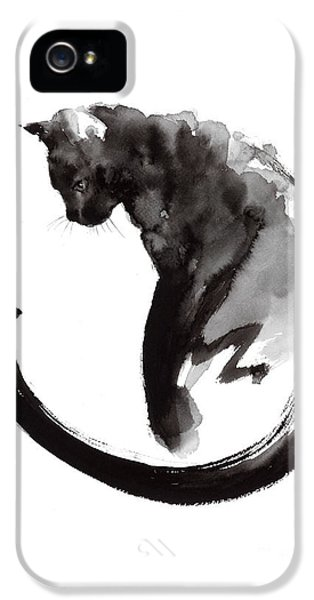 Cat iPhone 5s Case - Black Cat by Mariusz Szmerdt