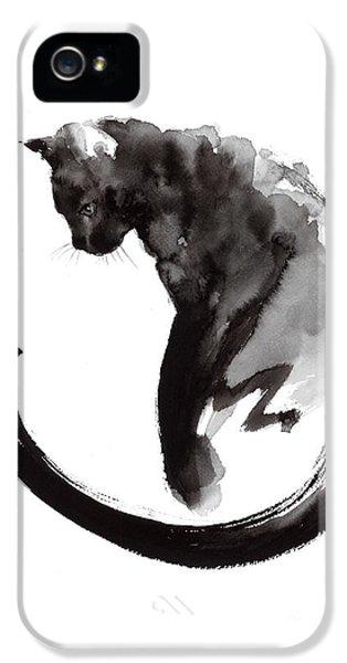 Black Cat IPhone 5s Case by Mariusz Szmerdt