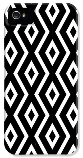 Pattern iPhone 5s Case - Black And White Pattern by Christina Rollo