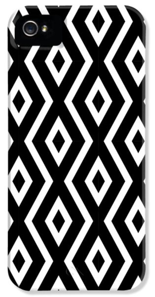 Black And White Pattern IPhone 5s Case by Christina Rollo