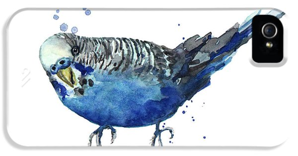 Parakeet iPhone 5s Case - Blue Budgerigar by Alison Fennell