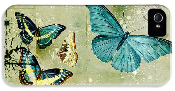 Butterfly iPhone 5s Case - Blue Butterfly - S55c01 by Variance Collections