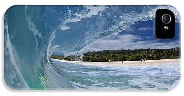 Water Ocean iPhone 5s Case - Blue Foam by Sean Davey