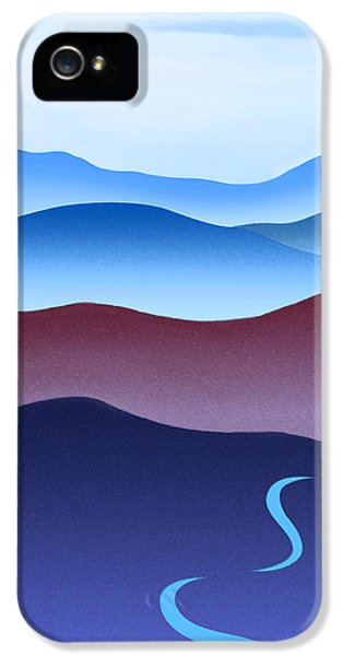Crane iPhone 5s Case - Blue Ridge Blue Road by Catherine Twomey