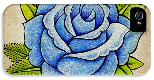 Blue Rose IPhone 5s Case by Samuel Whitton