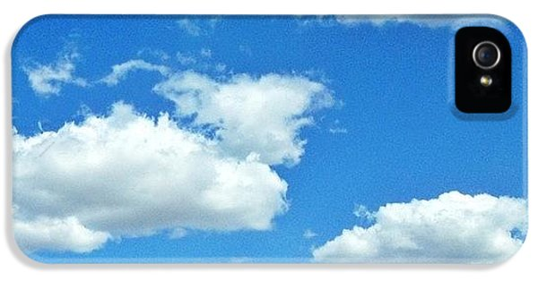 Sunny iPhone 5s Case - Blue Sky And White Clouds by Anna Porter