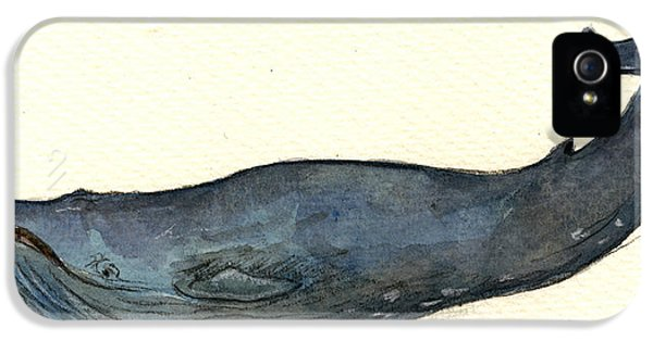 Blue Whale IPhone 5s Case by Juan  Bosco