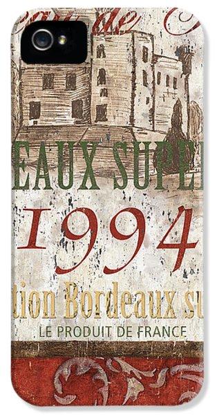 Wine iPhone 5s Case - Bordeaux Blanc Label 2 by Debbie DeWitt