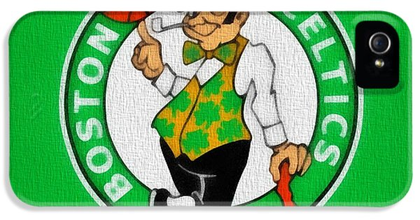 Boston Celtics Canvas IPhone 5s Case by Dan Sproul