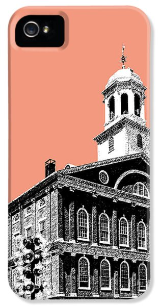 Boston Faneuil Hall - Salmon IPhone 5s Case by DB Artist