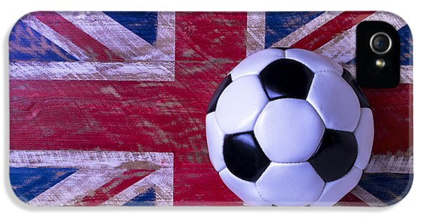 British Flag And Soccer Ball IPhone 5s Case