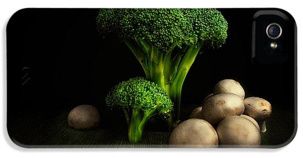 Broccoli iPhone 5s Case - Broccoli Crowns And Mushrooms by Tom Mc Nemar