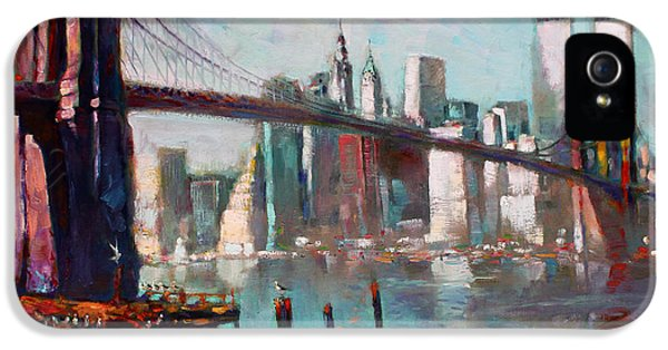 Brooklyn Bridge And Twin Towers IPhone 5s Case by Ylli Haruni