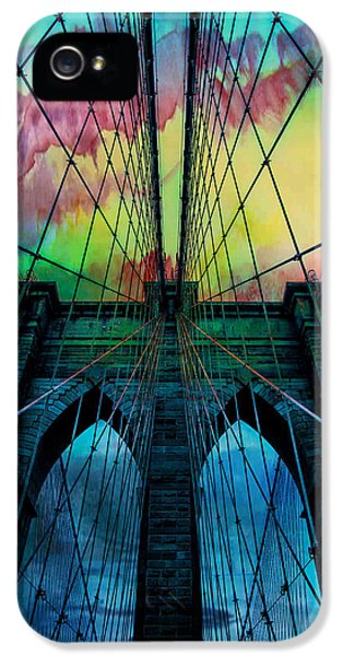 City Scenes iPhone 5s Case - Psychedelic Skies by Az Jackson