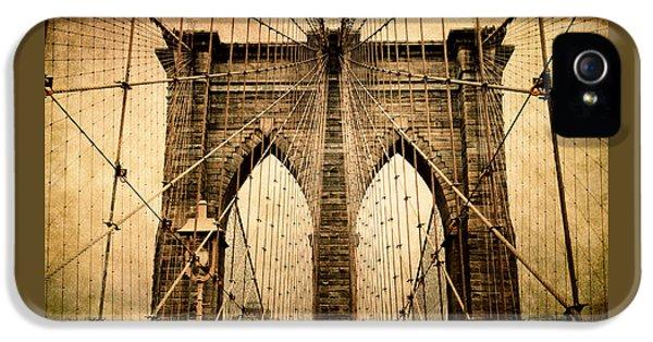 Brooklyn Bridge Nostalgia IPhone 5s Case by Jessica Jenney