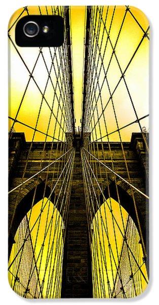 Brooklyn Bridge Yellow IPhone 5s Case by Az Jackson