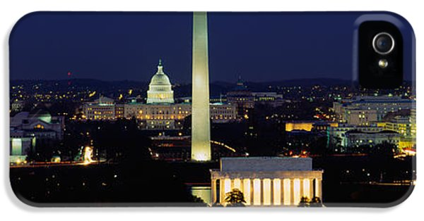 Washington Monument iPhone 5s Case - Buildings Lit Up At Night, Washington by Panoramic Images