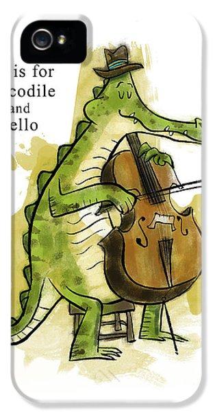 Crocodile iPhone 5s Case - C Is For Crocodile by Sean Hagan