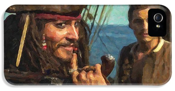 Cap. Jack Sparrow IPhone 5s Case by Himanshu  Dubey